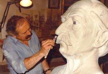 Manel Casserras i el gegant St.Joan Despí